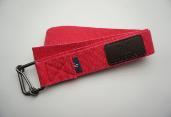 tortue yoga strap - red