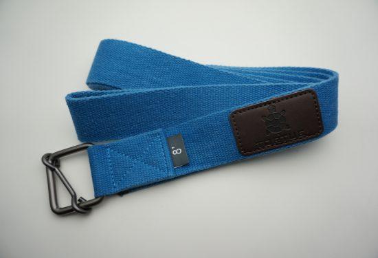 tortue yoga strap blue