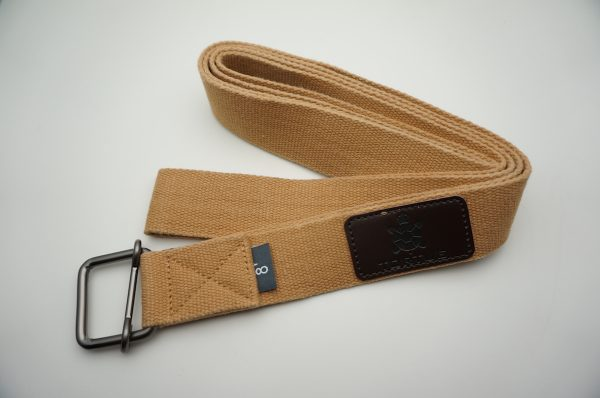 tortue yoga strap - light brown